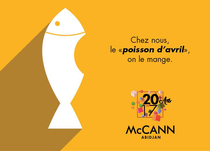 Poisson d'avril McCann Abidjan