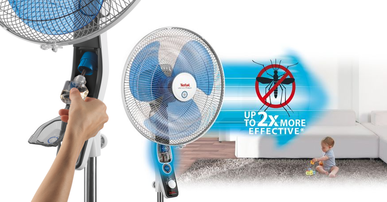 Ventilateur anti moustique TEFAL Mosquito Protect _VF4210