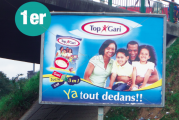 Outdoor :   Top Gari fait le top de la pub