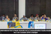 Le Colloque international de la Haute Autorité de la Communication Audiovisuelle (HACA), les 3 et 4 octobre 2018 à Abidjan, en images